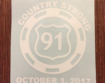 Country Strong Poker Chip Decal
