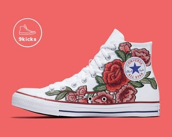 Gucci Flower Custom Converse High Top Sneakers