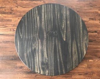 Distressed wood lazy susan