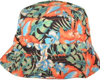 Floral Cotton Bucket Hats BK Caps