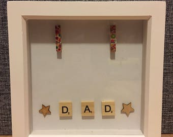 Scrabble Dad Photoframe