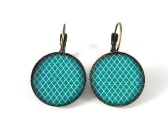 Earrings retro earrings turquoise pattern