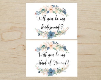 Bridesmaid & Maid of Honour Cards