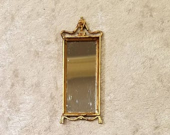 Miniature dollhouse mirror