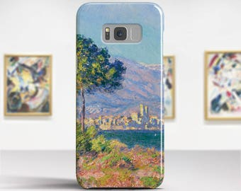 """Claude Monet, """"View of Antibes"""". Samsung Galaxy S6 Case LG G5 case Huawei P9 Case Galaxy A5 2017 Case and more. Art phone cases."""