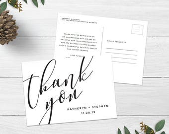 Thank you postcard | Etsy