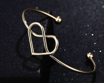 Heart Knot Bracelet Gold Silver or Rose Gold//Thanks for helping us tie the knot