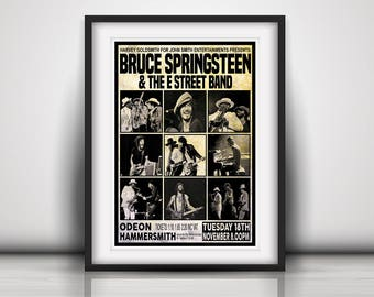 Springsteen 1975 First Ever London Concert - Prints or Poster available in Three Sizes