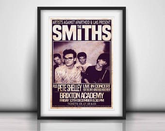 The Smiths 1986 The Final Concert - Prints or Poster available in Three Sizes