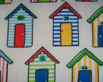 Beach hut fat quarter