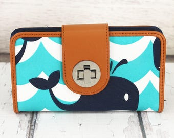 Clutch Wallet for Women--Oh Whale!