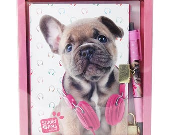 Secret diary with lock and pen in gift box DOG