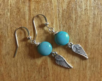 Turquoise Rounds and Silver Wings