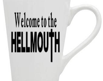 Buffy the Vampire Slayer Hellmouth Sunnydale Horror Mug Coffee Cup Halloween Gift Kitchen Bar Gift Her Him Any Color Custom Merch Massacre
