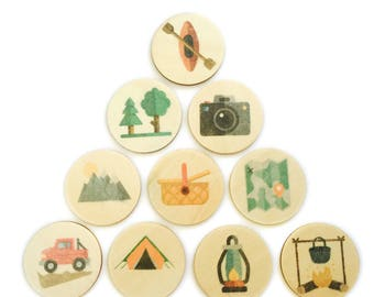 camping - story tellers / story stones