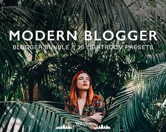 Modern And Minimal Blogger Bundle 35 Lightroom Presets Photography Lightroom Presets for Professional Editing Results in Adobe Lightroom