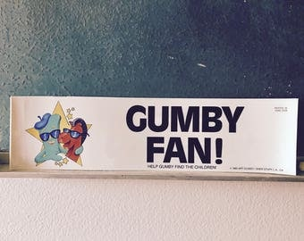 VERY RARE Vintage 1985 Gumby and Pokey Bumper Stickers