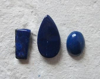 Lapis Lazuli. Lot 3 Pcs. S0438