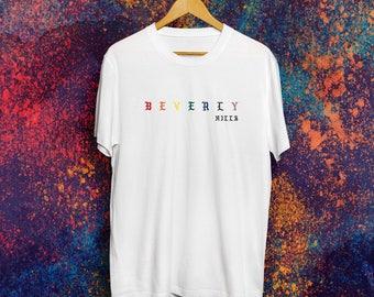 Beverly Hills Rainbow T-shirt Beverly Hills 90210 shirt Kim Kardashian Shirt Kardashian Shirt Kanye West Shirt Yeezus Shirt Yeezy Shirt