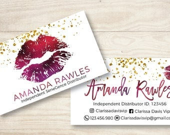 LipSense Business Cards - SeneGence International - LipSense - Distributor