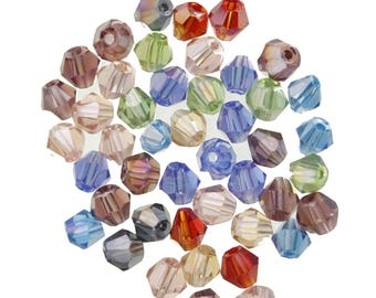 set of 100 beads glass bicone beads 4X3mm