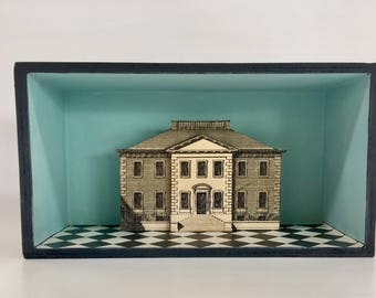 House Diorama (Blue) OOAK