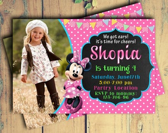 Minnie Mouse,Minnie Mouse Birthday,Minnie Mouse Birthday Invitation,Minnie Mouse Invitation,Minnie Mouse Birthday Party,Minnie Mouse Invites