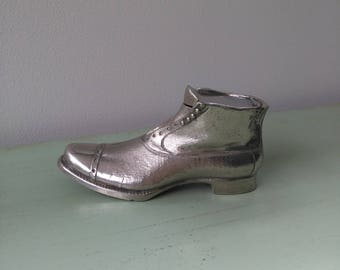 Inkwell shoe boot silver-plated early XXth