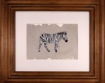 Zebra 5x7 Watercolor