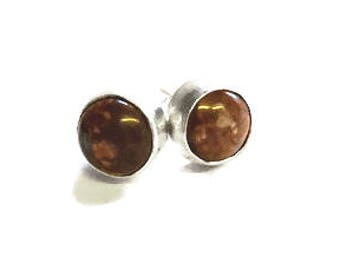 Jasper Stone Set Stud Earrings