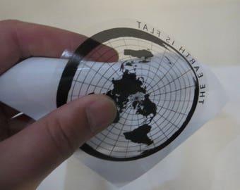 6 x Flat Earth Window Stickers