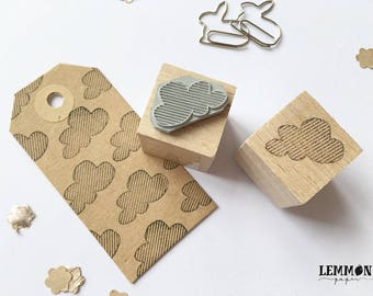 Stempel van kleine gestreepte wolk / / kubussen