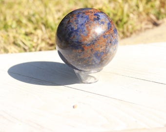 Large Sodalite Ball|Crystal Grids|Sphere|Crystal Balls|Reiki|Healing Crystals|Natural Stone|Raw Crystal|Sphere|Gemstone Sphere