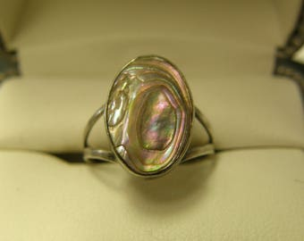 Antique Shell Sterling Silver Ring- Size 7 1/2