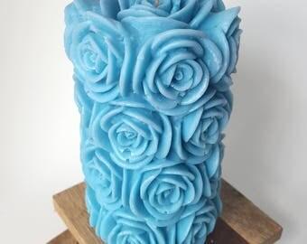 Turquoise Rose Pillar