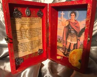 St. Expedite Altar Shrine Box