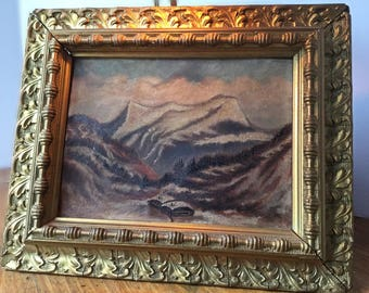 Antique Painting and Frame