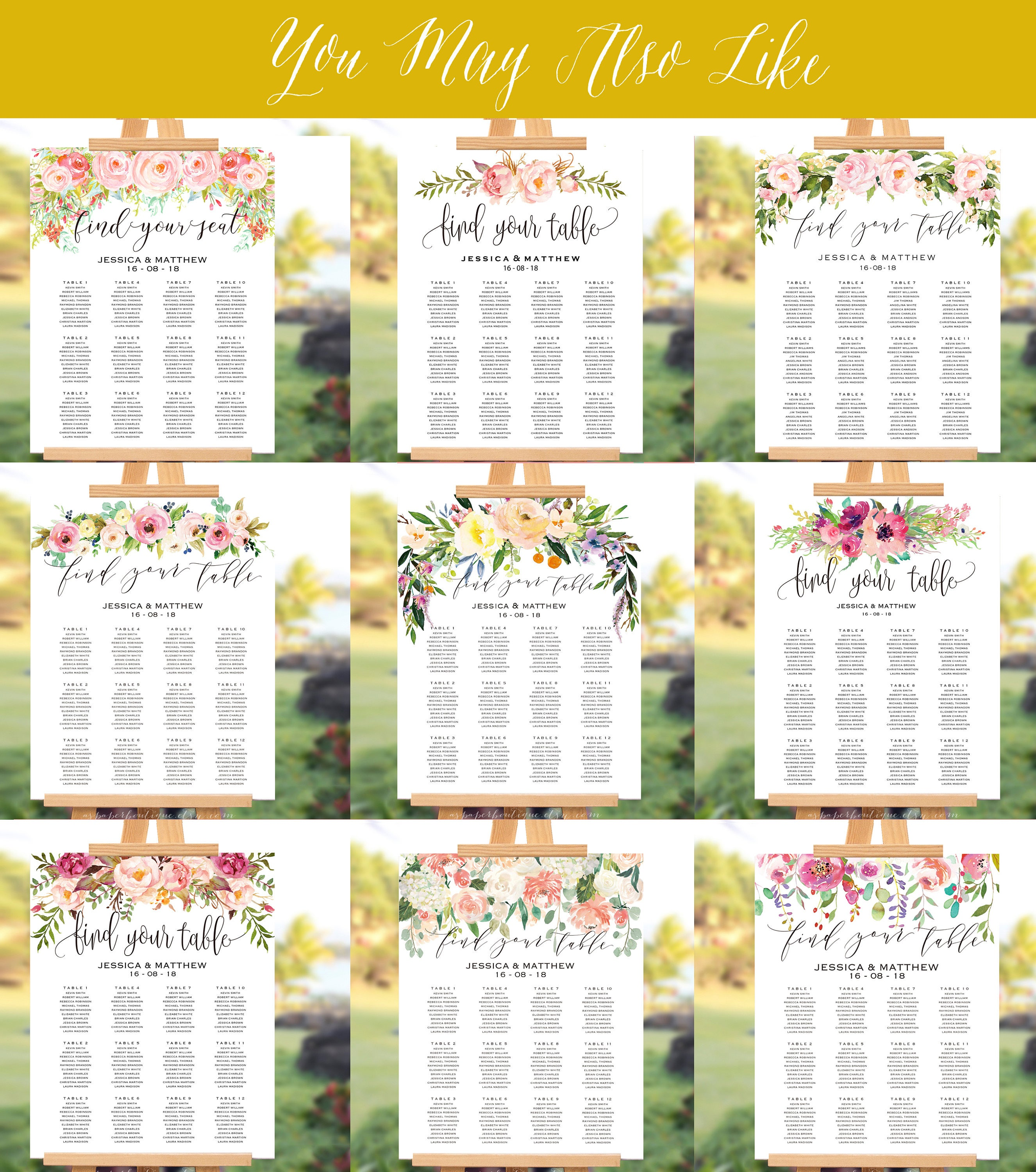 watercolor floral wedding seating chart template seating chart template find your seat sign floral seating chart