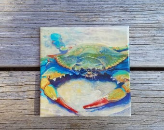 Maryland Blue Crab, Candle Display, Trivet, Blue Crab Trivet,  Spoon rest, Wall Decor, Home Decor, Wall Art