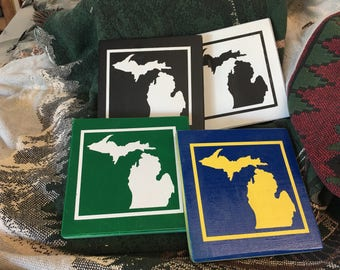 State of Michigan Painted Wall Plaque Sign