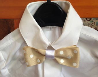 Baby bow tie, child bow tie, boy bow tie, tan bow tie, baby boy gift, baby shower gift, toddler gift, wedding bow tie, special occasion