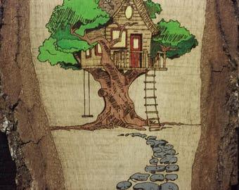 Live Edge Tree House