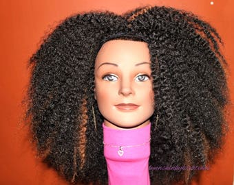 """READY TO SHIP //Synthetic crochet wig """" Untwisted Beauty"""""""