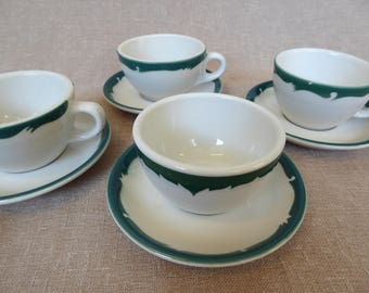 Restaurant Ware Cups & Saucers Set of 4