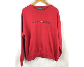 USPA SPORT US Polo Association Long Sleeve Sweatshirt / Pullover Large Size