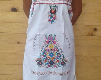 Strapless Mexican hand Embroidered dress (size medium)