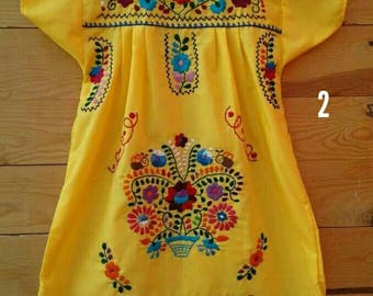 Traditional Mexican Hand Embroidered dress 6 years/
