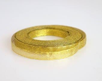 Gold Metallic Ribbon (1cm x 25 yards)