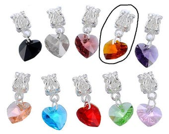 Dangle heart charm