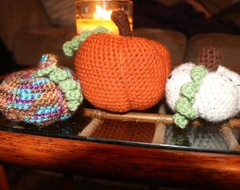 Crochet Pumpkin Set (3) | Halloween Decor | Fall | Autumn | Home Decor